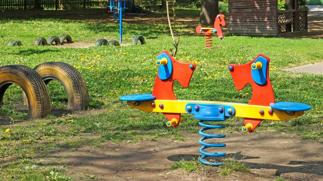 Det er tomme lekeplasser i mange av landets barnehager akkurat nå. Illustrasjonsfoto: Getty Images