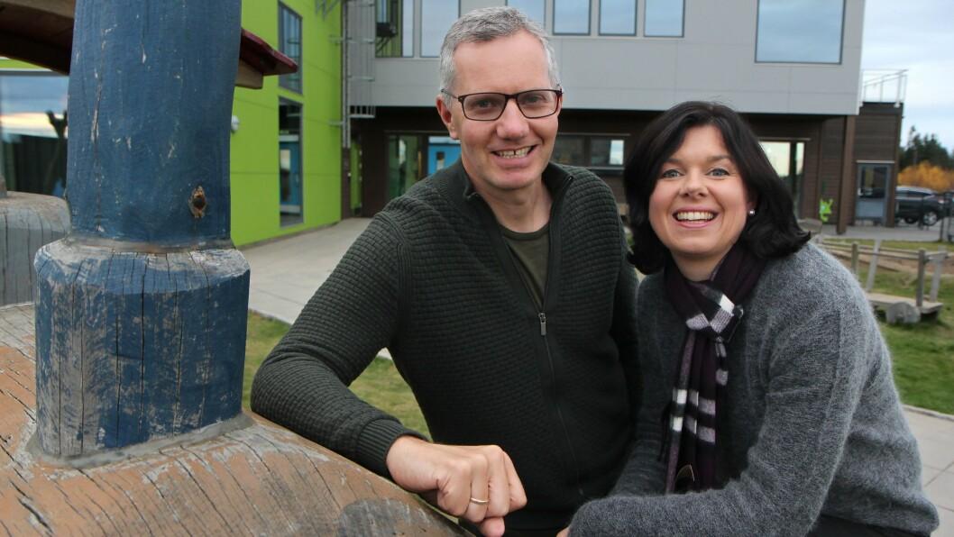 Randi og Hans Jacob Sundby eier og driver Læringsverkstedet. Foto: Øyvind Johansen