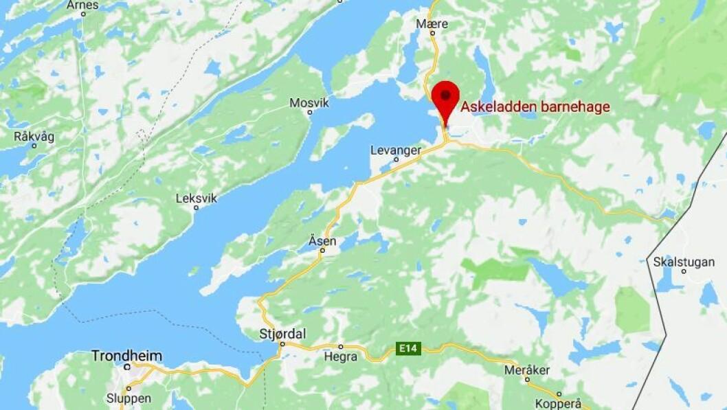 Askeladden barnehage lå i Verdal. Illustrasjon: Googlemaps