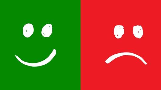 """Begrepene røde og grønne tanker hjelper barn og barnehager til å snakke mer om alle slags følelser og tanker, mener Solfrid Raknes. Den grafiske framstillingen her er en illustrasjon og er ikke en del av pakken """"Grønne tanker - glade barn""""."""
