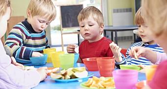 Undersøkelse: Private barnehager serverer oftere varm mat, frukt og grønnsaker