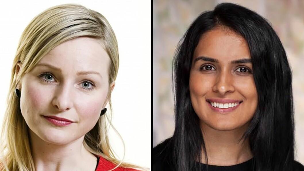 Byråd for oppvekst og kunnskap i Oslo, Inga Marte Thorkildsen (SV) og bystyrerepresentant Saida Begum (H) krangler om pedagogmangelen i Oslo.
