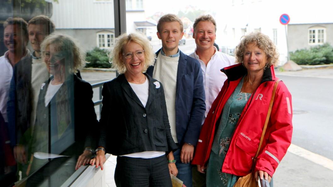 Fra venstre Margrete Wiede Aasland, Sindre Borgund, Robert Ullmann og Pia Friis jobber alle for å forebygge vold, overgrep og omsorgssvikt mot barn.