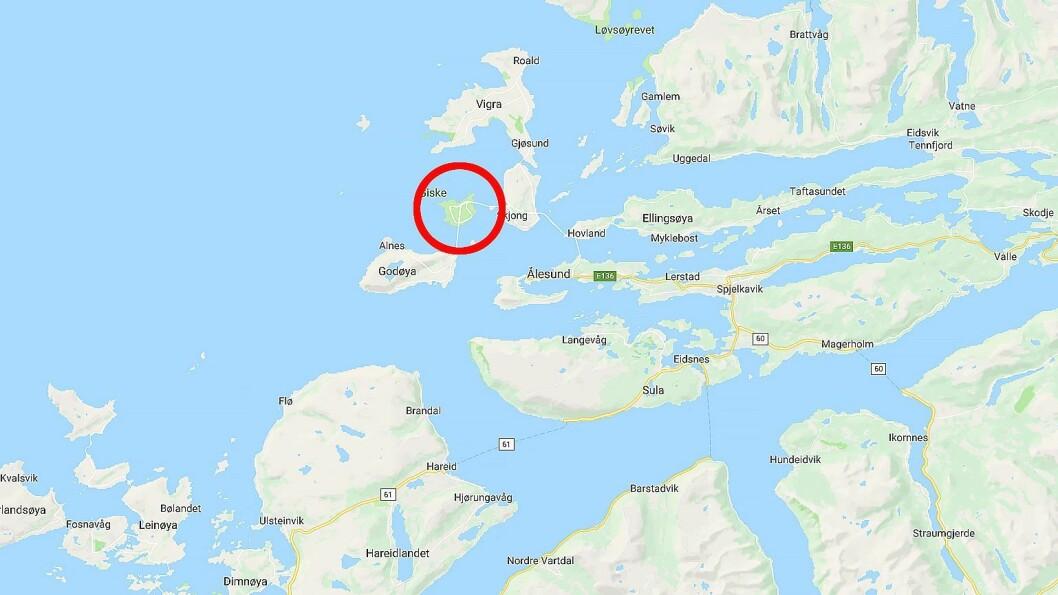 Giske barnehage ligger på øya Giske i Møre og Romsdal. Kart: Googlemaps