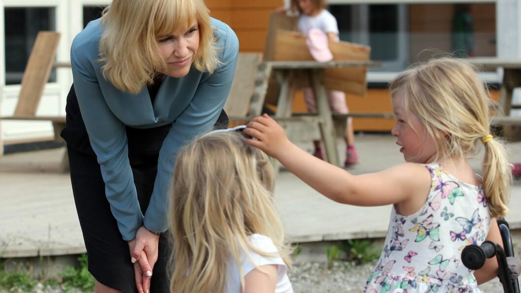 - Vi har i dag fått mange henvendelser fra små barnehager som hadde håpet at de skulle få muligheten til å styrke bemanningen ved hjelp av denne ekstrafinansieringen, men som nå er veldig fortvilte. Jeg forstår deres frustrasjon og uro, sier administrerende direktør Anne Lindboe i PBL. Bildet er tatt ved en tidligere anledning.