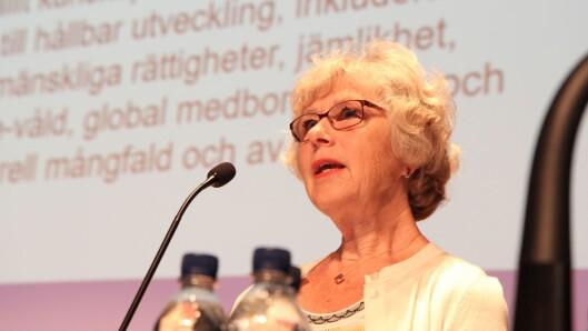 Professor Ingrid Pramling Samuelsson fra Universitetet i Gøteborg utfordret senteret på sentrale punkter.