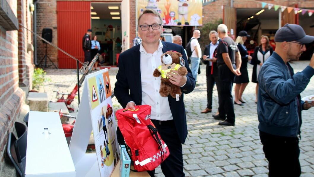Håvard Kleppe, kommunikasjonsleder i Norsk brannvernforening, lanserer en storstilt kampanje med fokus på brannsikkerhet rettet mot barnehager.