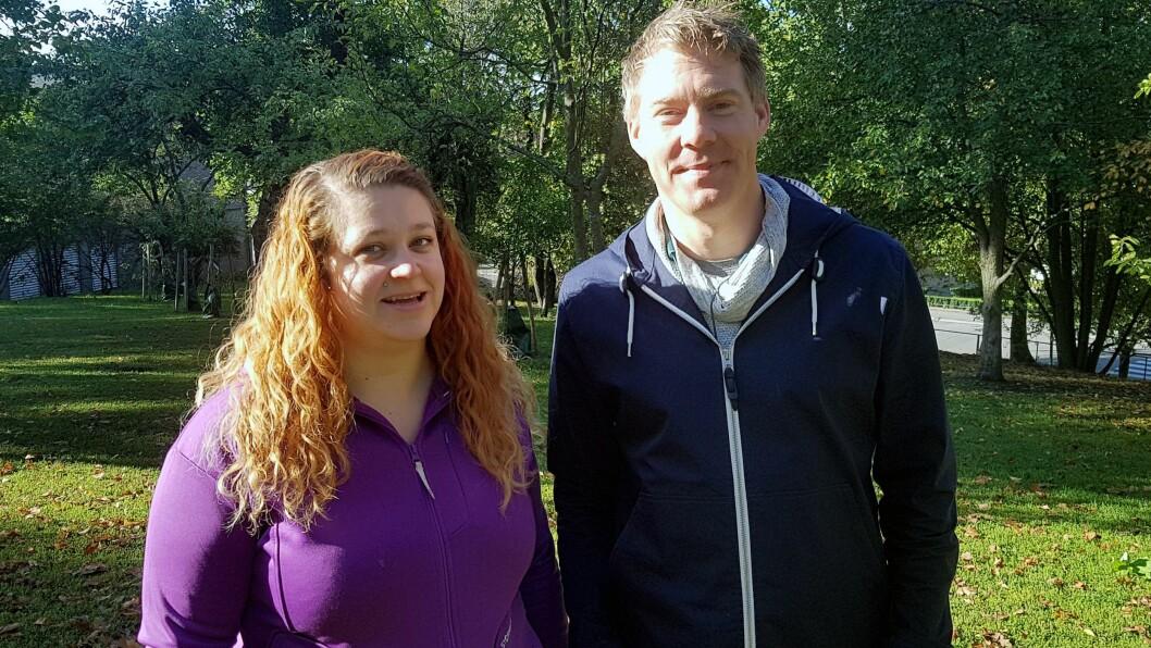 Karin Otelia Dalen og Ingemar Nielsen studerte sammen. Nå jobber de i hver sine barnehager, og samarbeider om å lage podcast for barnehagelærere.