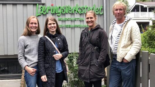 Også Maskinisten Friluftsbarnehage og pedagogisk leder Kristine Johnsen Rishaug (til venstre) fikk besøk av representantene fra PBL og Naturvernforbundet.