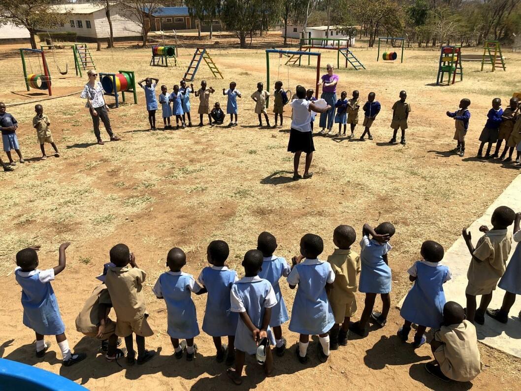 Barnehagen i Bindura har plass til 141 barn, og har et stort uteområde.