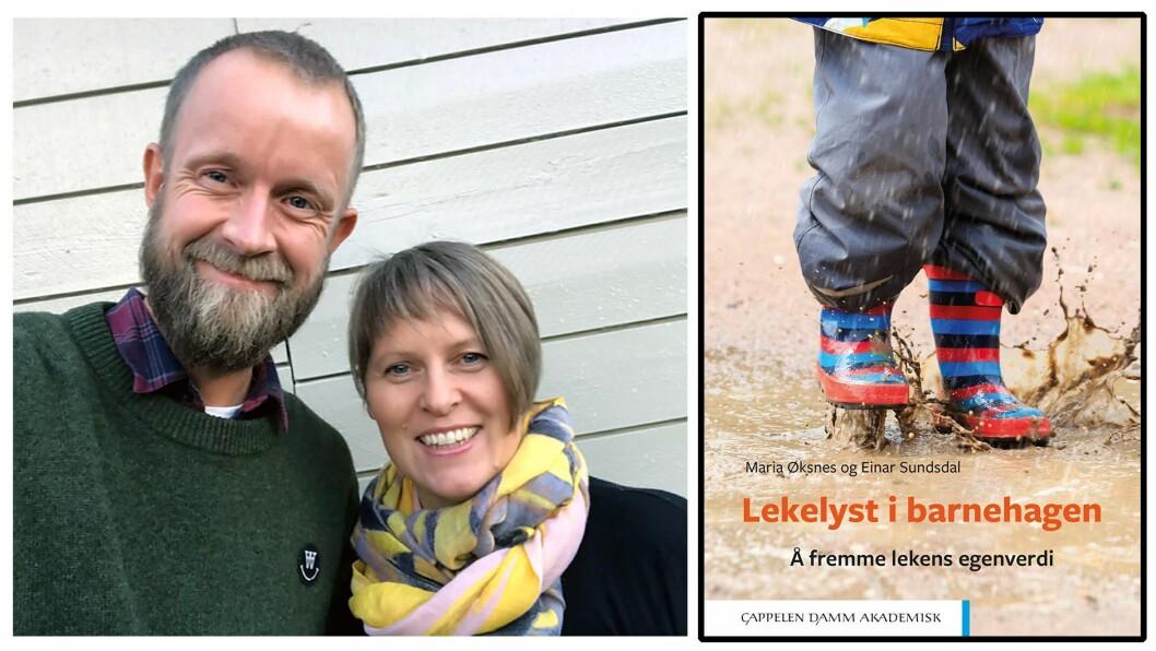 Forfatterparet Maria Øksnes og Einar Sundsdal gir ut bok om å fremme lekens egenverdi - og er bekymret for den frie, barneinitierte leken.