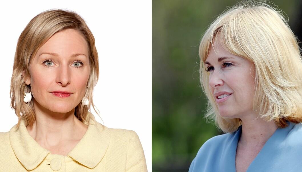 Byråd Inga Marte Thorkildsen (SV) og PBL-direktør Anne Lindboe er ikke enige om Oslo kommunes praksis rundt tilskuddsberegningene for de private barnehagene er riktig.