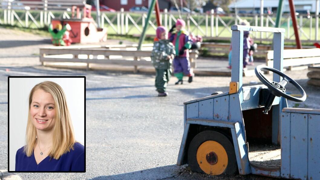 – Det er bra at vi diskuterer lekens rolle i barnehagen. Men jeg opplever ikke at leken er truet, sier statssekretær Rikke Høistad Sjøberg i Kunnskapsdepartementet.