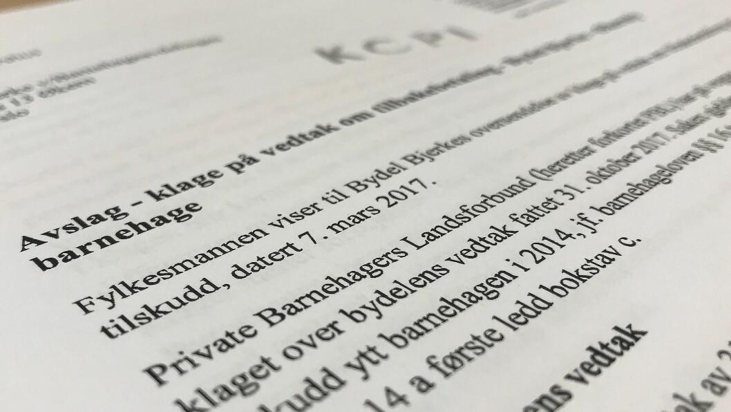 Fylkesmannen i Oslo og Akershus opprettholder Oslo kommunes vedtak om tilbakebetaling.