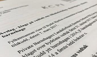 Barnehage eid av PBLs styreleder må betale tilbake 800.000 kroner