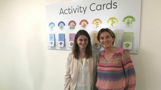 Marit Lambrechts i Espira - her sammen med en av pedagogene i den første tyske Espira-barnehagen.