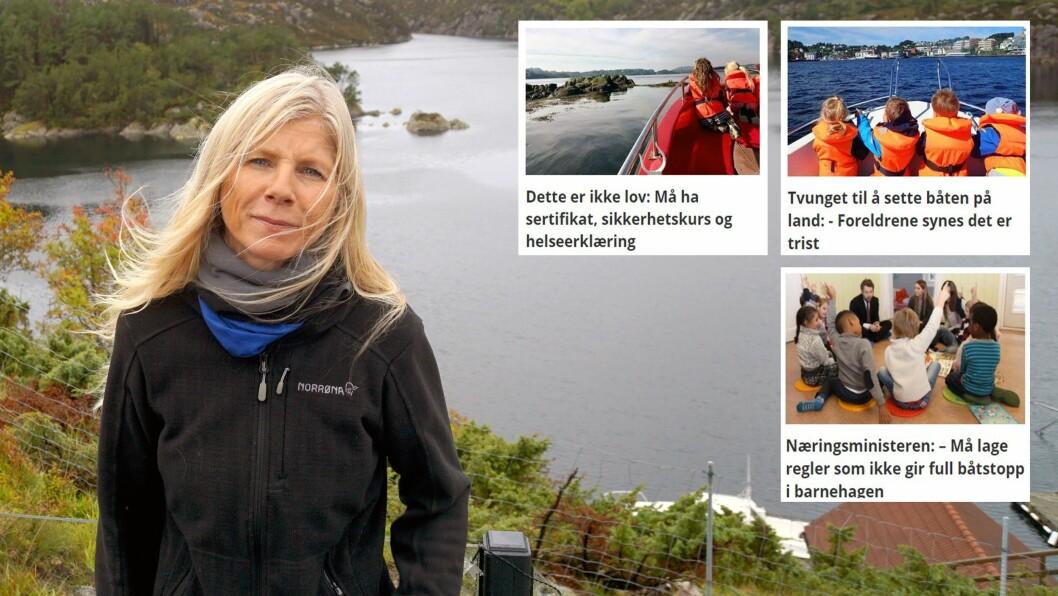 Styrer Lise Lauvik i Langøy friluftsbarnehage har lenge tatt til orde for at reglene for båtbruk i barnehagen må endres.