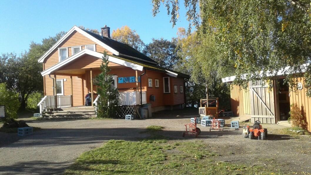 Mære gårdsbarnehage ligger en mil sør for Steinkjer sentrum. Foto: Privat