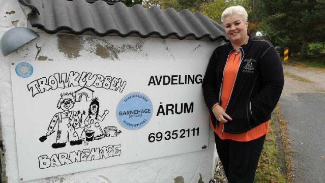 Helle Soos og Trollklubben barnehage tar ingen sjanser når det kommer til vaksine mot alvorlige sykdommer. Foto: Privat