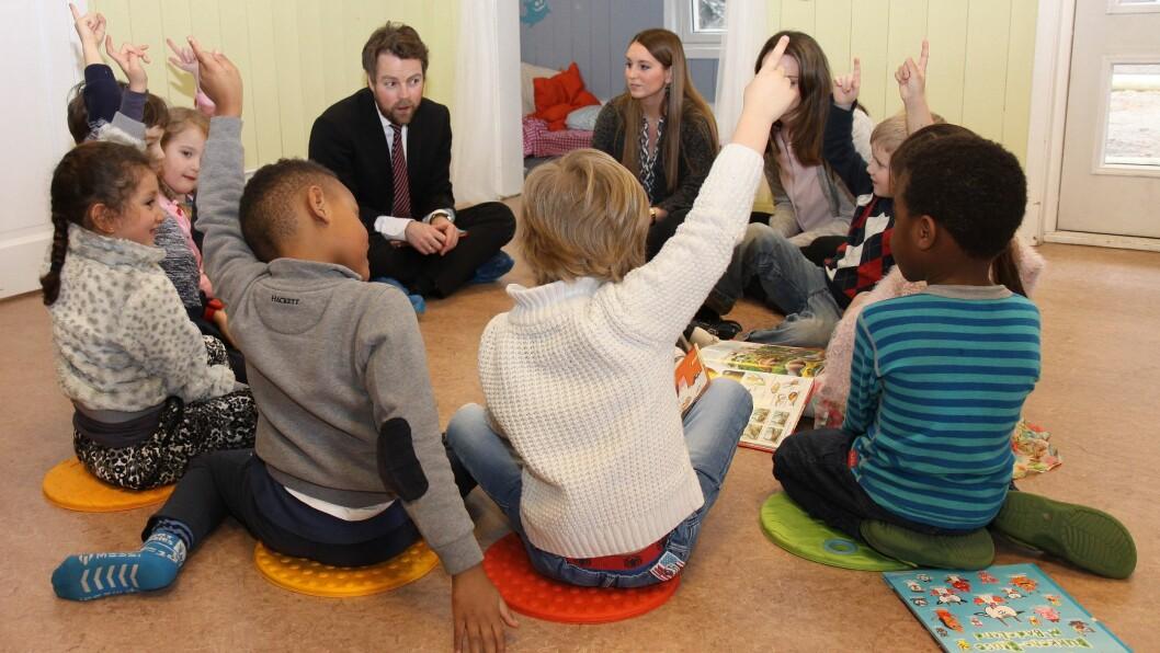 Næringsminister Torbjørn Røe Isaksen (H) uttaler seg i dag om båtbruk i barnehagen. Bildet er tatt mens han fremdeles var kunnskapsminister.