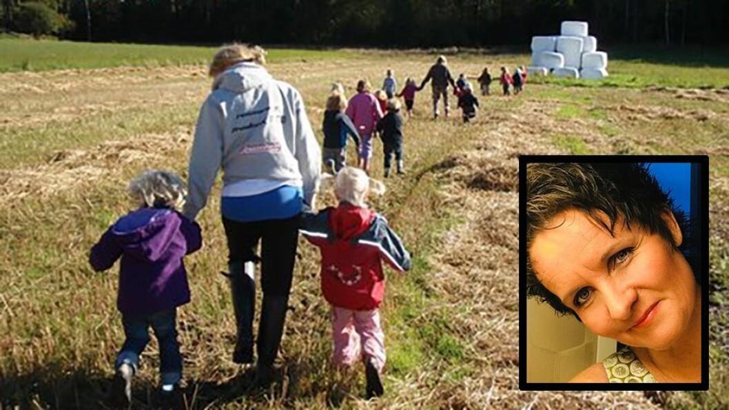 Cecilie Grønli eier tre Naturbarna-barnehager. Nå tar hun initiativ til å si nei til barnehageplass for familier som ikke følger barnevaksinasjonsprogrammet. Foto: Privat/Naturbarna