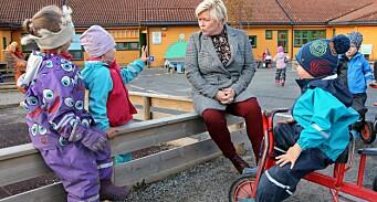 Her er Siv Jensens budsjett for barnehage i 2019