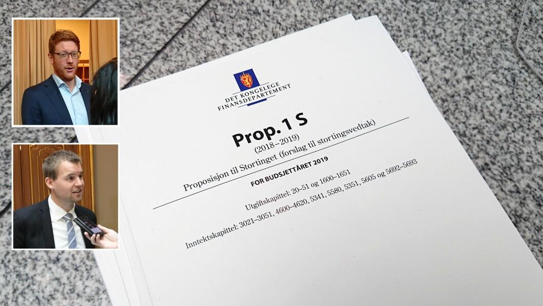 Regjeringens forslag til statsbudsjett for 2019 ble lagt frem mandag formiddag.
