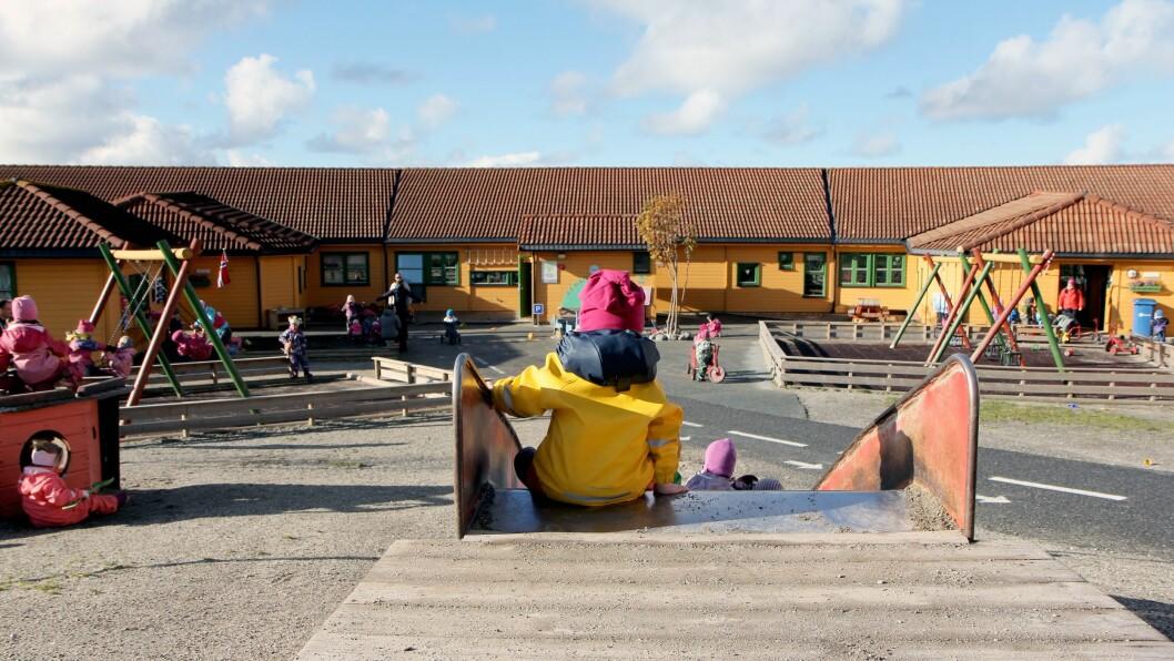 Bildet er tatt i Norlandia Breivika barnehage i Bodø. Foto: Mariell Tverrå Løkås