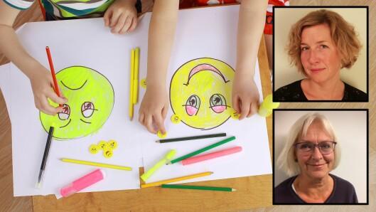 """""""Vi trenger barnehager og skoler som har det enkelte barns unike følelsesmessige behov i fokus. Ved at barn møtes på sine følelser og forstås ut fra sin oppførsel, fremmes deres psykiske helse,"""" skrev Katrine Heim Gjesvik (øverst) og Kjersti Brænne. Nå har de fått svar. Illustrasjonsfoto: Getty Images"""