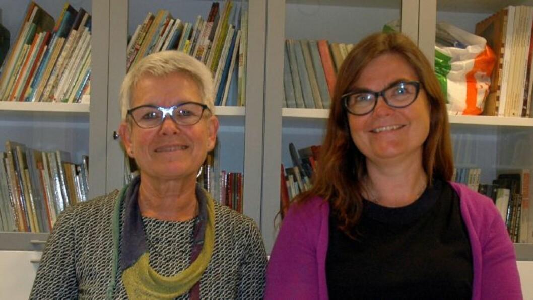 Dosent Ann Merete Otterstad (t.v.) og førsteamanuensis Tove Lafton ønsker å bidra til debatt om hva barnehagepedagogikk kan være. Foto: Kari Aamli, OsloMet