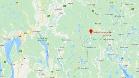 Eidskog naturbarnehage ligger helt sør i Hedmark, nær svenskegrensen.