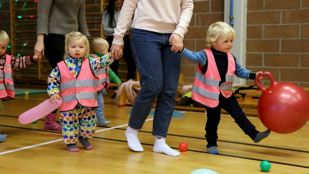 Barna fra småbarnsavdelingen ved Grilstad FUS barnehage storkoste seg.