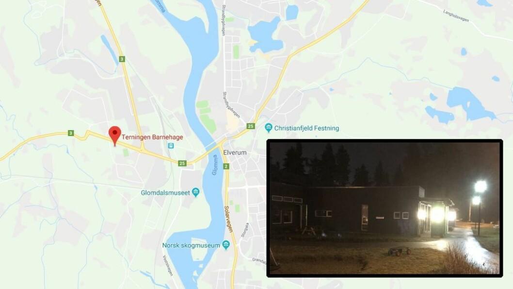 Natt til 9. november i fjor begynte det å brenne i Terningen barnehage. Banrehagen fikk store materielle skader.