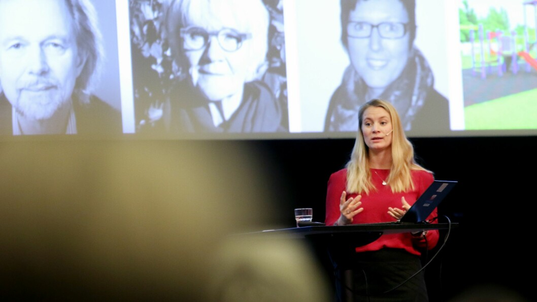 Statssekretær Rikke Høistad Sjøberg (H) innledet årets Styrerkonferanse i regi av Utdanningsforbundet.