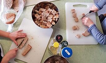 I denne barnehagen ender verken slappe gulrøtter eller tørt, gammelt brød opp i søpla