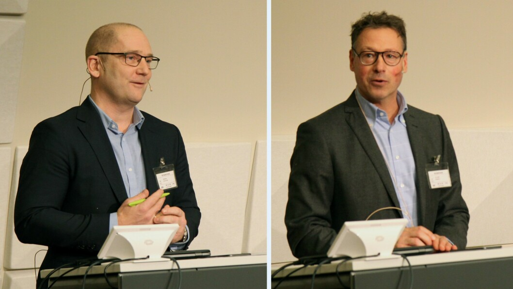 Steffen Handal (til venstre) er leder i Utdanningsforbundet. Han kommenterte rapporten som ble lagt fram i dag. Det samme gjorde leder i barnehagestiftelsen Kanvas, Robert Ullmann.