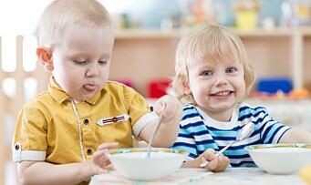 Her er den nye retningslinjen for mat og måltider i barnehagen