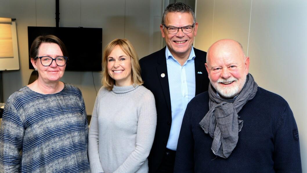 Anne Green Nilsen (Fagforbundet), Anne Lindboe (PBL), Trond Ellefsen (Delta) og Terje Skyvulstad (Utdanningsforbundet) har skrevet under en prosessavtale som legger føringer for veien videre mot en ny og bærekraftig pensjonsordning.