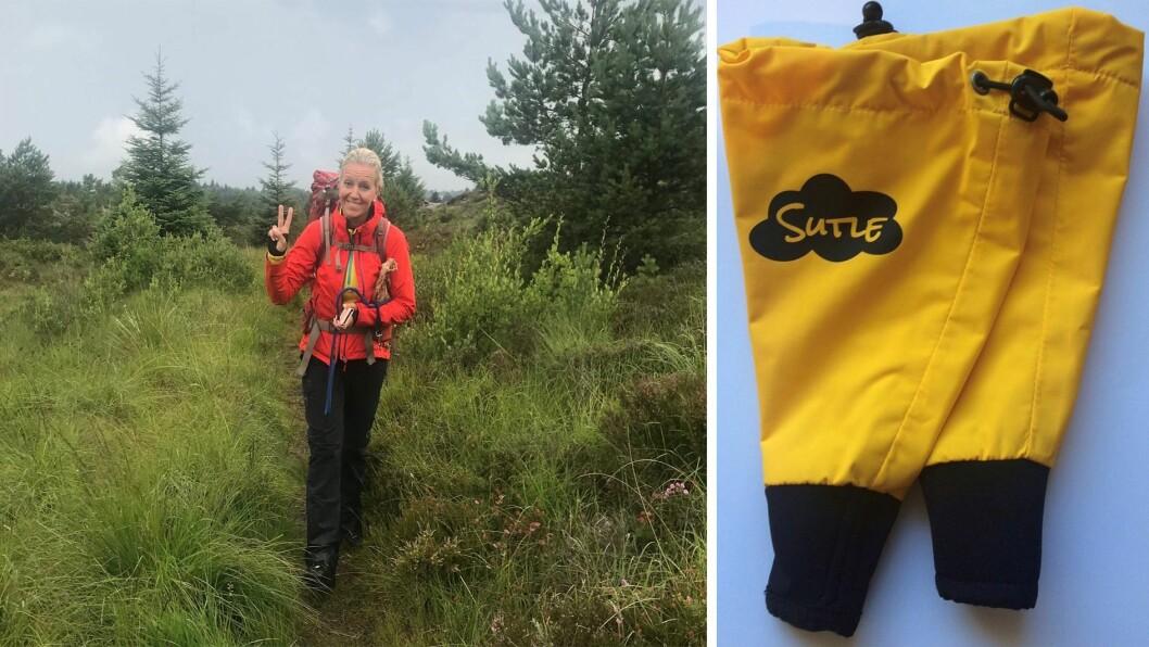 Kristin Rosvold (44) syntes det var for ille at «sutleungene» ikke fikk leke i sølepyttene. Det førte til at hun begynte å lage disse håndgamasjene.