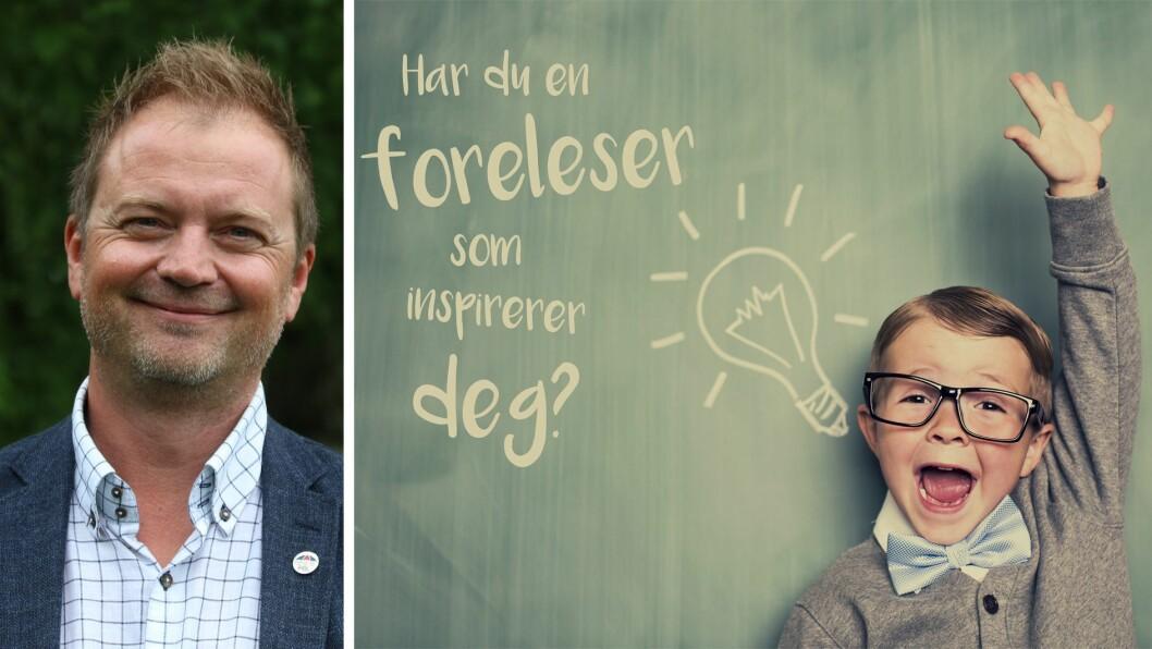 Styreleder Eirik Husby i PBL leder juryen som skal finne fram til Årets barnehageinspirator 2019. - Studentene må nominere i vei, sier han.