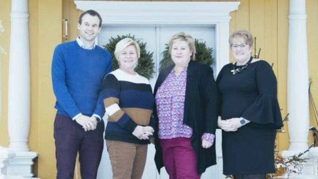 Torsdag 17. januar ble den nye regjeringsplattformen for en regjering bestående av Høyre, Frp, Venstre og KrF lagt fram av Erna Solberg, Siv Jensen, Trine Skei Grande og Kjell Ingolf Ropstad.