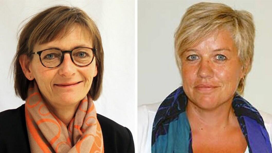Birthe Holm (til venstre) og Gudrun Skancke Eriksen i Fagstab oppvekst barn og unge er ansvarlige for Den utviklingsstøttende barnehage i kommunen.