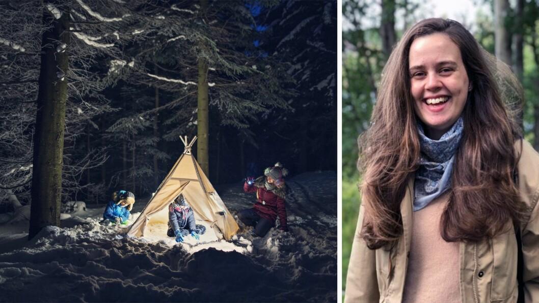 - Som voksen på telttur med barn kan det være utfordrende å senke kravene til turlengde og gå-tempo., skriver Martha Monasdatter Lynne.