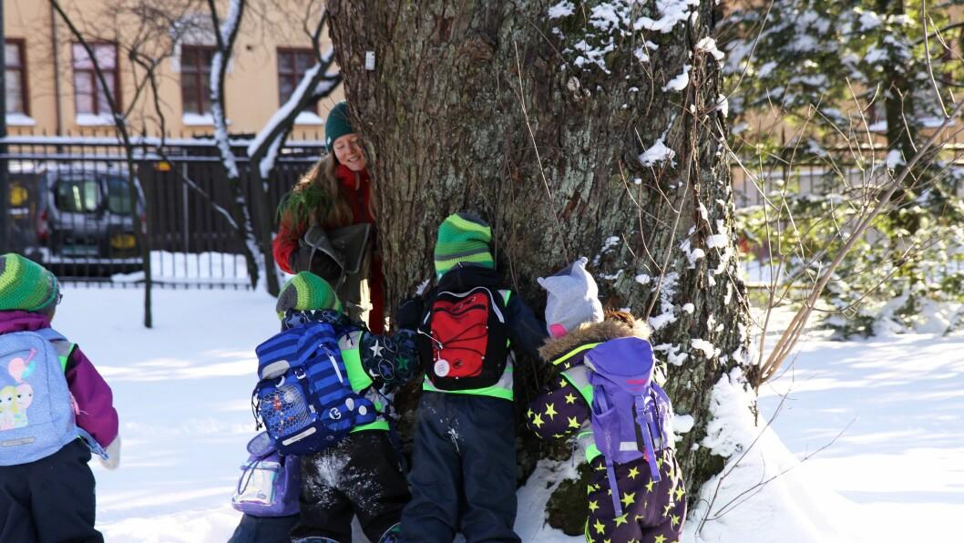 I forrige uke var førskolebarna fra Norlandia Bjørnåsen barnehage på besøk i Botanisk hage i Oslo for å teste ut opplevelsene barnehagebarn i hovedstaden skal få ta del i når det nye Klimahuset står klart neste vår.
