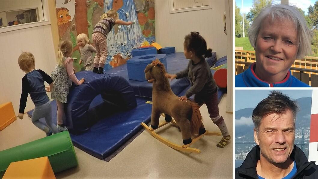 Grevlingrommet ble Tumlerom på Espira Gjemble barnehage i Levanger. Førstelekttor Rune Storli ved DMMH og pedagogisk leder i barnehagen Aud Sigrun Moe, har sammen forsket på denne viktige leken.