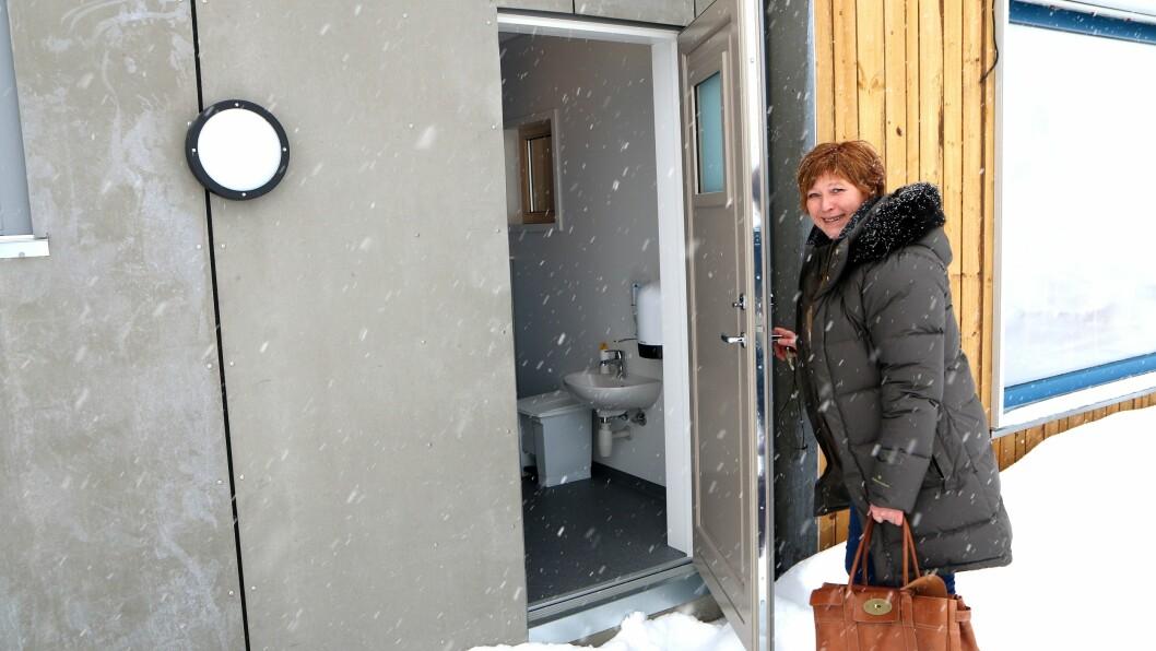 Styrer Britt Helen Aavik har fått den barnehagen hun ønsket seg. Utedo var et av 23 punkter på ønskelista.