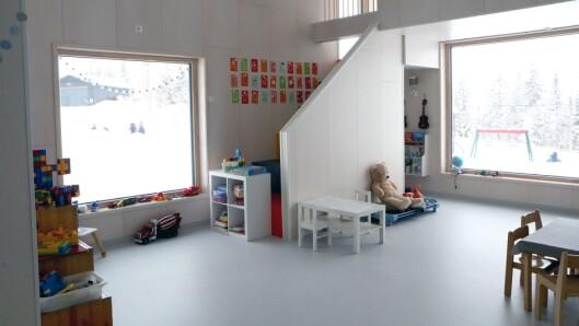 Det skal gjøres rom for både scene og backstage-arena i denne delen av barnehagen.