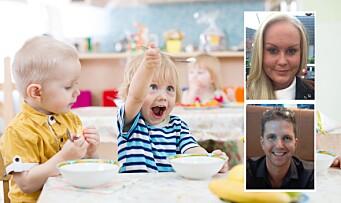 «Vi vil ha kokk i barnehagen!»