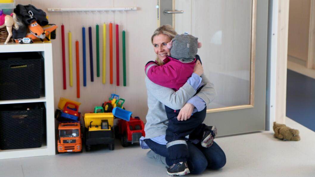 De aller minste i barnehagen er de eneste som har sin egen avdeling.