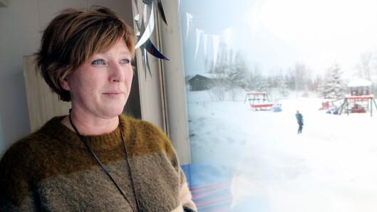 Styrer Britt Helen Aavik har allerede merket store forskjeller på både barna og de ansatte i den nye barnehagen.
